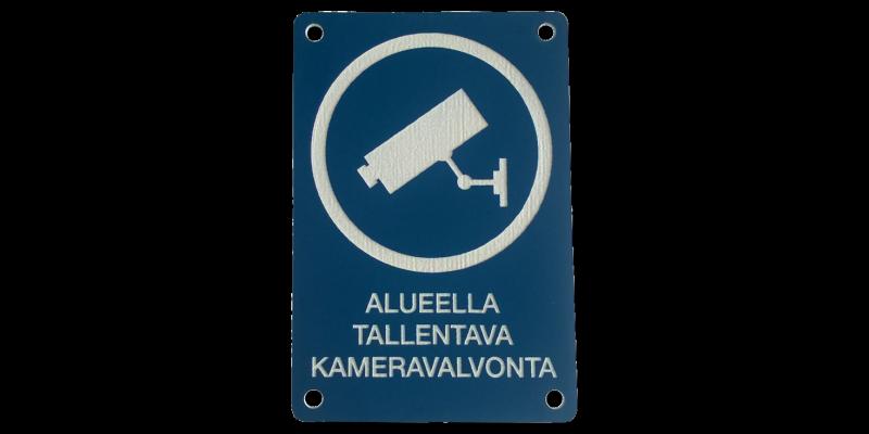 Alueella tallentava kameravalvonta -kyltti