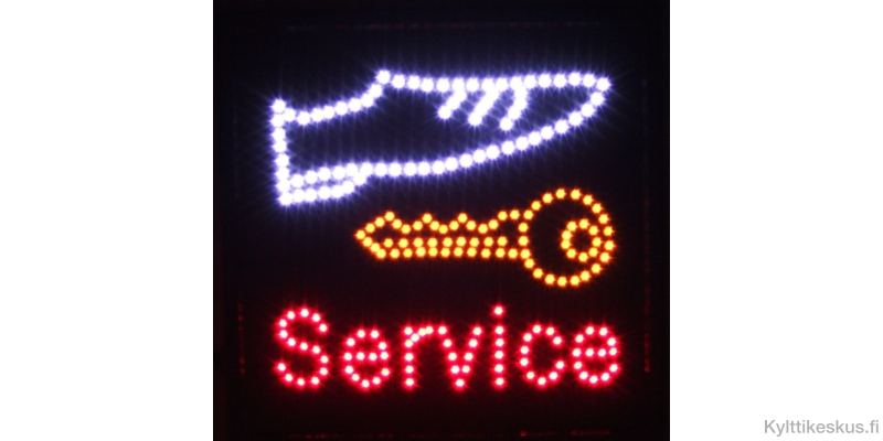 "Pikasuutarin led-valomainos ""Service"""