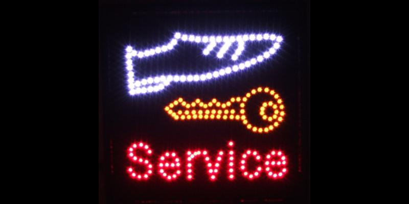 """Led-valomainos """"Service"""" pikasuutari"""